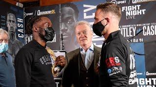 Denzel Bentley vs Felix Cash TENSE FACEOFF | Frank Warren boxing & BT Sport