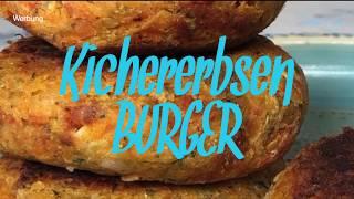 Kichererbsen Burger - Rezept - vegan