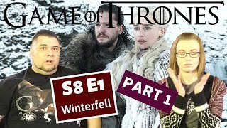 Game Of Thrones | S8 E1 'Winterfell' -  Part 1 | Reaction | Review