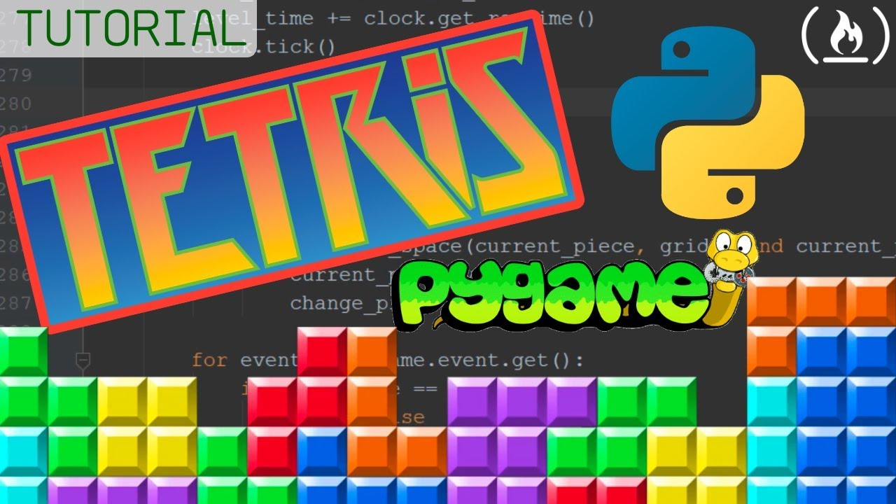 Tetris Python Tutorial using Pygame
