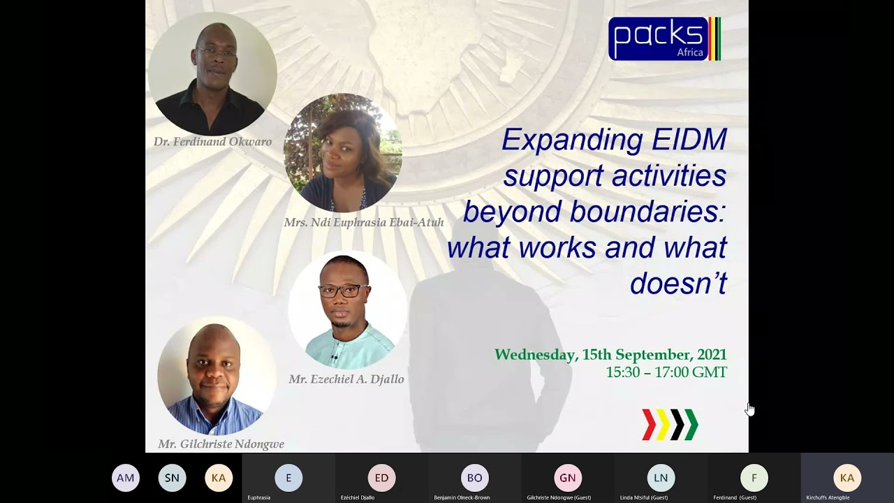 Africa Evidence Week 2021: Expanding EIDM support activities beyond boundaries what works and what doesn't