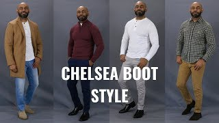 How To Wear Chelsea Boots/How To Style Mens Chelsea Boots