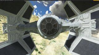 MSFS 2020 _  Tie Interceptor _ Star Wars _ KAZC _ Usa