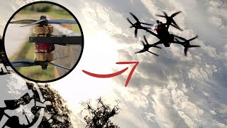 We put 8 motors on a Freestyle Drone.. the X8 7in kwad that RIPS