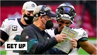 Could the Carson Wentz-Jalen Hurts controversy cost Doug Pederson his job with the Eagles? | Get Up