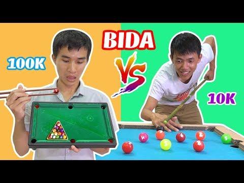 BÀN BIDA TỰ LÀM 10K VÀ BÀN BIDA 100K - Đồ Chơi Con Nhà Và Con Nhà Nghèo Có Gì Khác (Billiard Game)