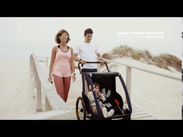 Видео Велотрейлер Polisport - прицеп к велосипеду для перевозки детей