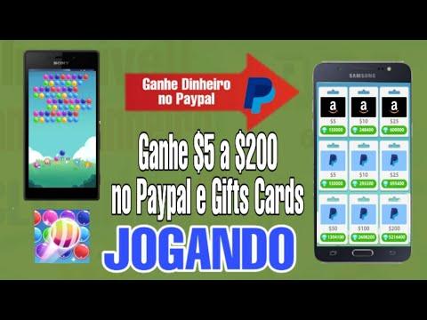 O SEGREDO para  GANHAR $5 a $200 no PAYPAL e GlFTS CARDS JOGANDO.