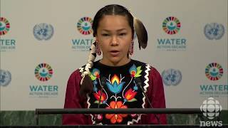Autumn Peltier, 13-year-old water advocate, addresses UN
