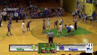 Tippecanoe Valley Boys Basketball vs Triton