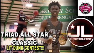 f075ae739a7f36 Triad All Tar Classic Basketball Game   Dunk Contest!! Dhieu Deing Wins  Dunk Contest