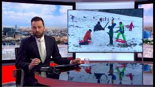 Weather Events 2019 - Snow Day in the London area (UK) - BBC London News - 1st February 2019