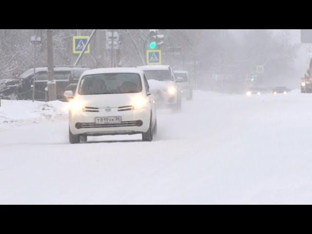 Ангарск занесло снегом