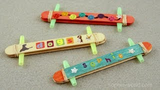 How to Make a Popsicle Stick Kazoo | Sophie's World
