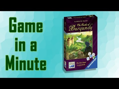 Game in a Minute Ep 77: The Castles of Burgundy: The Dice Game