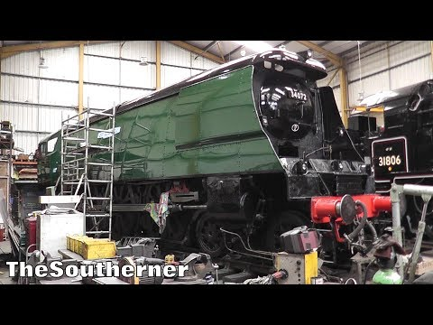 A look at the overhaul progress of 34072 '257 Squadron' at S…
