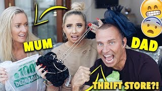MUM vs DAD CHARITY/THRIFT STORE PROM dress CHALLENGE!! 😭😱