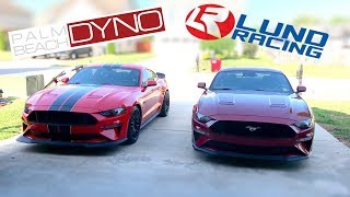 2018-2019 Mustang GT - LUND RACING vs PALM BEACH DYNO - WHO's THE BEST?