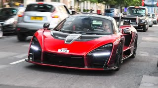 SuperCars in London June 2020 - Senna, SVJ Roadster, Taycan!
