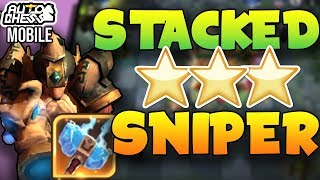 People Forgot About This Build?!    HUGE ⭐⭐⭐ Dwarf Sniper Carry | Auto Chess Mobile Hunters Guide