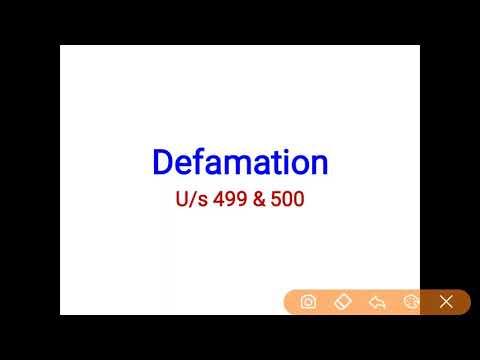 Defamation under section 499-500   IPC