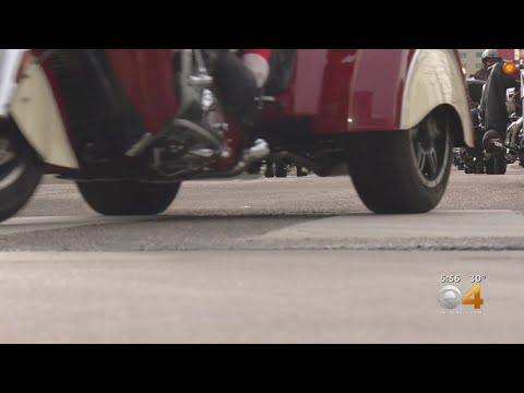 Toys For Children's Hospital Colorado Patients Arrive On Motorcycles