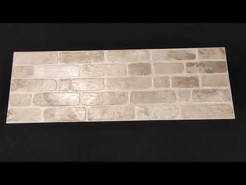 Płytka ścienna KERABEN Wall Brick Old grey mat 30x90 gat. I
