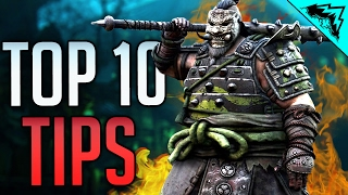 For Honor TOP 10 Tips &  Tricks (Guard Break Interrupt Timing, How to Learn,  Outnumbered Fights)