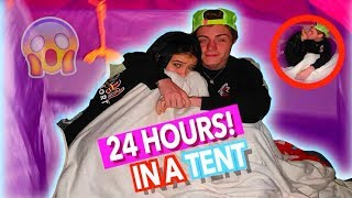 24 Hours Overnight In A Tent Challenge w/ My Boyfriend!