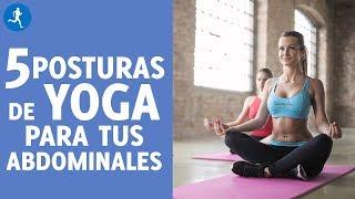 YOGA en 5 minutos: ejercicios para ABDOMINALES | Vitónica