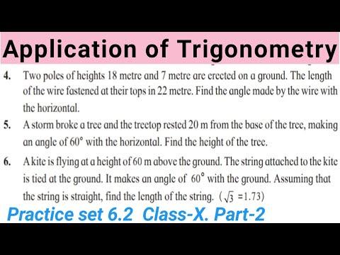 Application of Trigonometry Part-2 Class 10 Maharashtra Board SSC