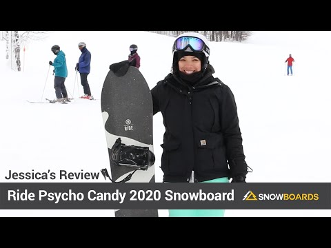 Video: Ride Psycho Candy Snowboard 2020 9 50
