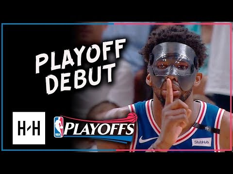 MASKED Joel Embiid PLAYOFF DEBUT! Full Game 3 Highlights vs Heat 2018 Playoffs - 23 Pts, 7 Reb!