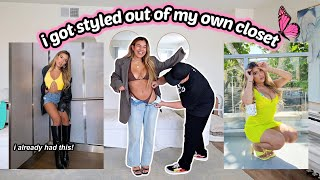 I HIRED A CELEBRITY STYLIST TO PICK OUTFITS FROM MY OWN CLOSET (fashion hacks tea....)