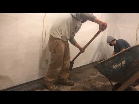 Basement Waterproofing in Bakersfield, Vermont, with Matt Clark's Northern Basement Systems.
