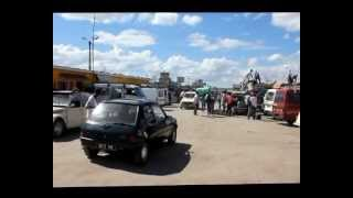 preview picture of video 'A visit of a taxi- brousse station in Antananarivo'