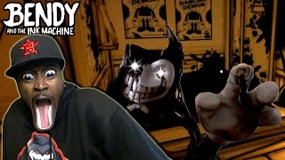 IS THAT BENDY?? || BENDY AND THE INK MACHINE : HORRIFYING (Chapter 2 ENDING!)