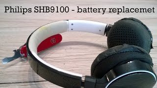 Philips SHB9100 headphones - battery replacement