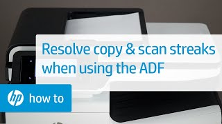 Resolve Streaks When Scanning or Copying Through the Automatic Document Feeder