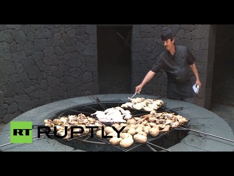 This Restaurant Cooks Your Food Over a Volcano