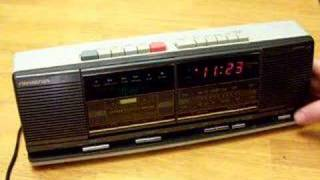 Vintage Stereo Cassette Player Clock Radio EBAY