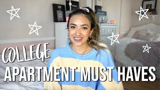 COLLEGE APARTMENT MUST HAVES!! // APARTMENT ESSENTIALS!!