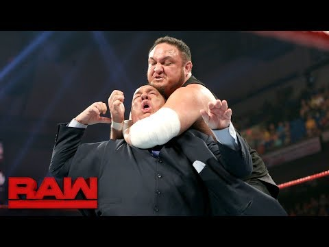 Samoa Joe Traps Paul Heyman In The Coquina Clutch: Raw, June 5, 2017 Mp3