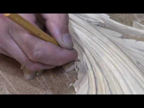 , title : 'Резьба по дереву ,акантовый лист . acanthus woodcarving . 2 часть'
