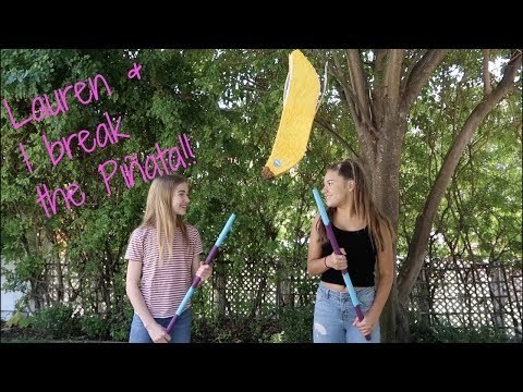Lauren and I broke the Piñata!  || Mackenzie Ziegler