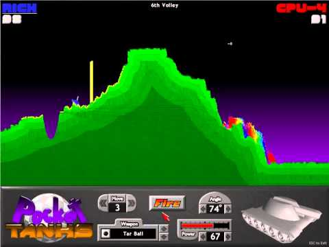 Pocket Tanks Gameplay