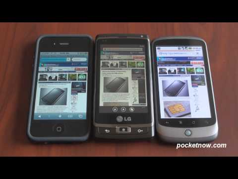Mobile Browser Comparison: Windows Phone 7 Vs iPhone Vs Android
