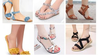 Stylish Flat Sandals Collection 2020 |  Latest Beautiful Flat Sandals Designs | College Wear Sandals