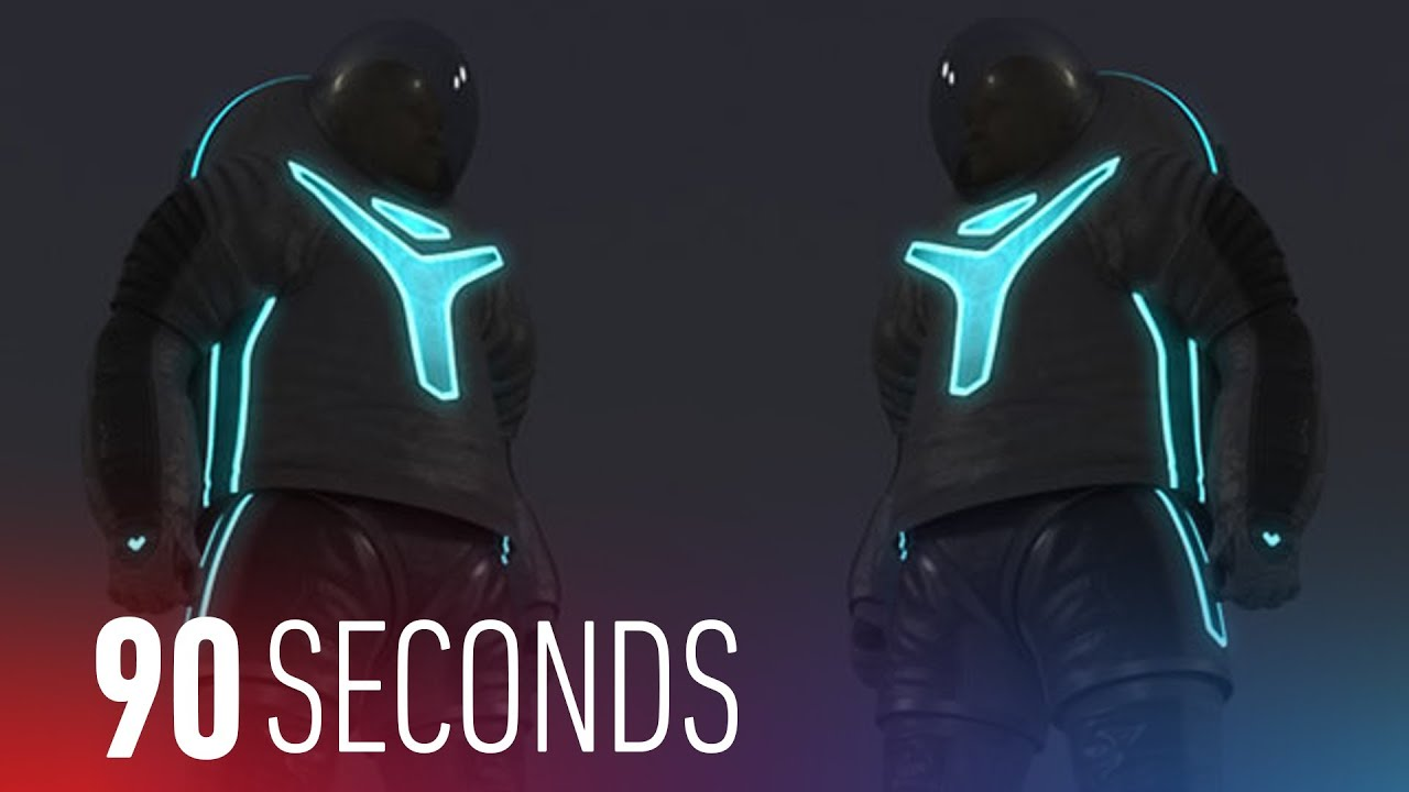 From Buzz Lightyear to Tron, this is NASA's new prototype spacesuit: 90 Seconds on The Verge thumbnail