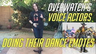 Overwatch Voice Actor Doing Their Dance Emotes   Including Genji, Sombra, Lucio Tracer & More